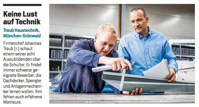 Ausschnitt aus dem Focus-Artikel über die Traub GmbH